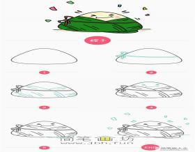 可爱的端午节粽子简笔画步骤教程【彩色】