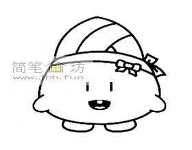 可爱的卡通粽子简笔画图片1幅