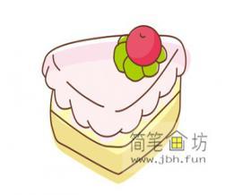 怎么画彩色蛋糕简笔画步骤教程