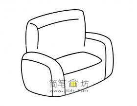关于沙发的简笔画画法图片6幅