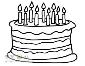 2幅关于生日蛋糕的简笔画图片