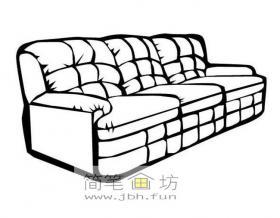 沙发简笔画图片1幅