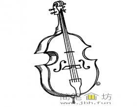 简笔画小提琴图片1幅
