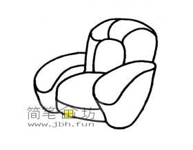 单人沙发简笔画