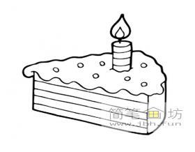 生日蛋糕简笔画5幅