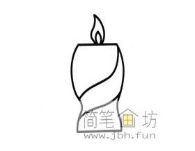 简单的蜡烛简笔画