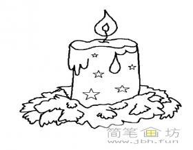 燃烧的蜡烛简笔画图片