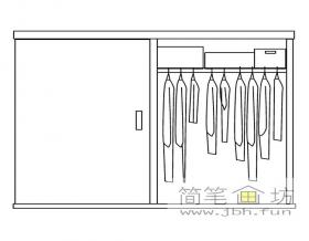 衣柜简笔画图片1幅