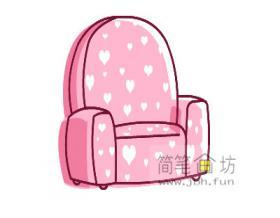 儿童简笔画沙发的画法步骤教程【彩色】
