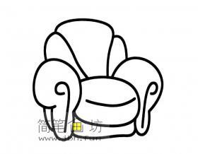 单人沙发简笔画素材