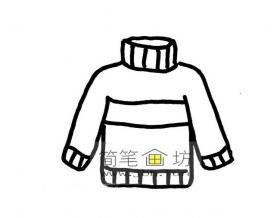 高领毛衣的简笔画图片