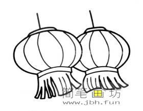 新年节日灯笼简笔画图片