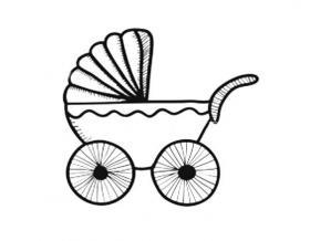 婴儿车简笔画图片