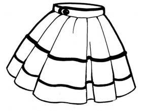 短裙简笔画图片