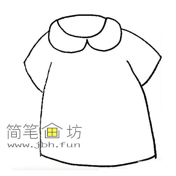 衣服的简笔画教程【彩色】(4)
