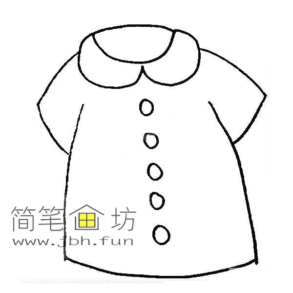 衣服的简笔画教程【彩色】(5)