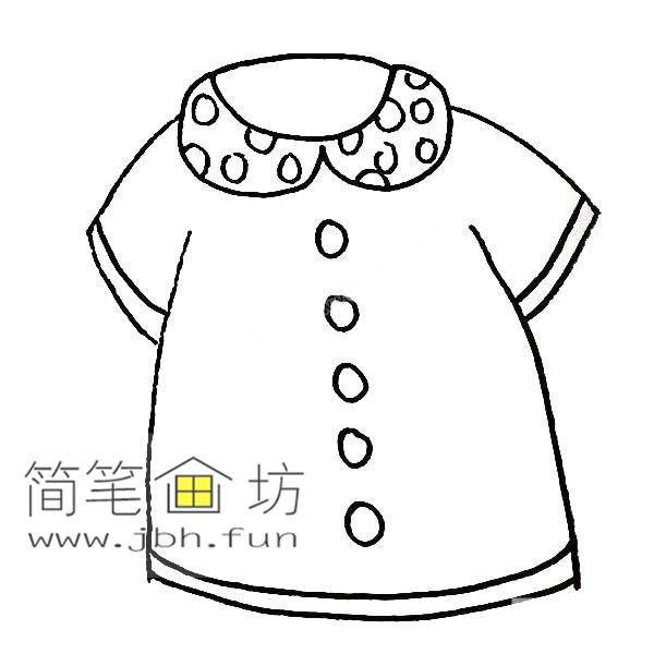 衣服的简笔画教程【彩色】(7)