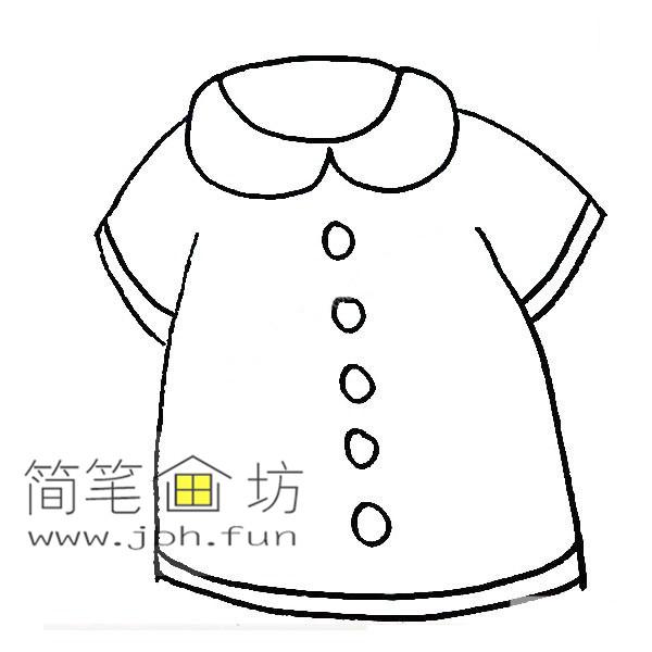 衣服的简笔画教程【彩色】(6)