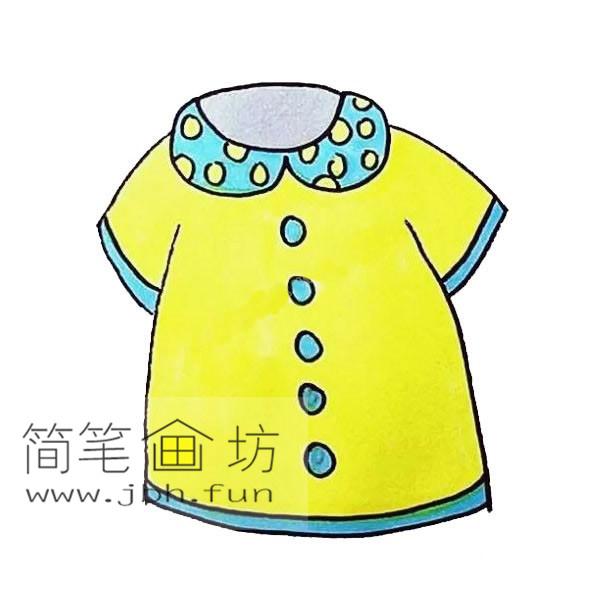 衣服的简笔画教程【彩色】(8)
