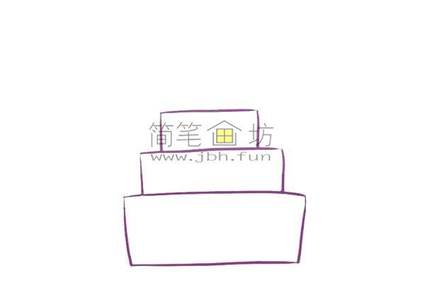 儿童简笔画彩色生日蛋糕画法(2)