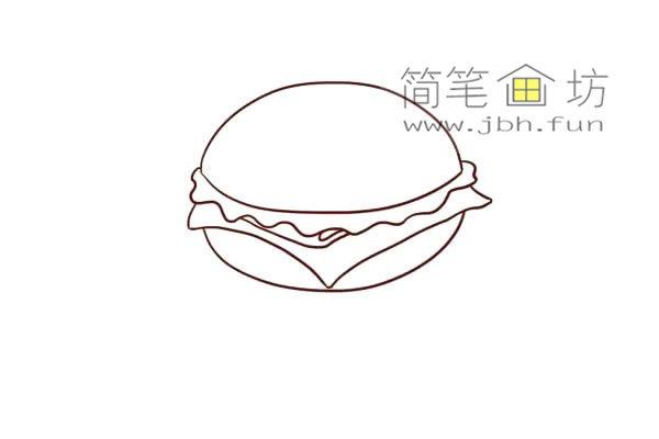 汉堡的儿童简笔画画法教程(6)