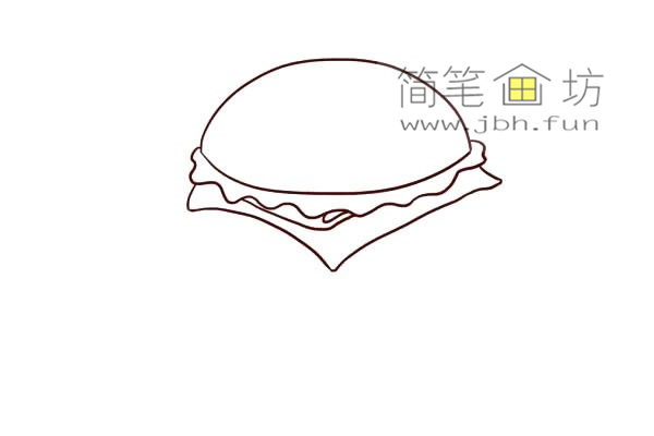 汉堡的儿童简笔画画法教程(5)