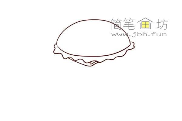 汉堡的儿童简笔画画法教程(3)