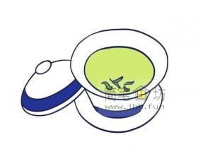 简笔画一杯清茶的画法步骤教程