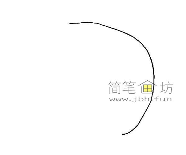 彩色雨伞的简笔画教程(1)