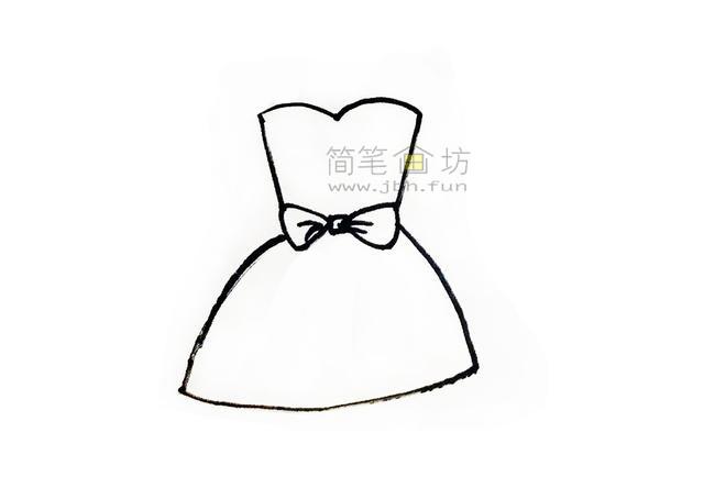 吊带连衣裙简笔画画法步骤大全(2)
