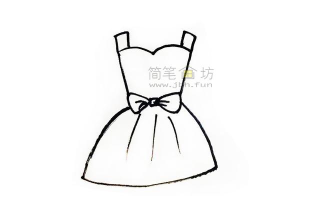吊带连衣裙简笔画画法步骤大全(3)