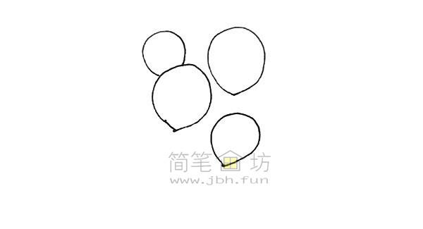 七彩气球简笔画绘画步骤【彩色】(2)