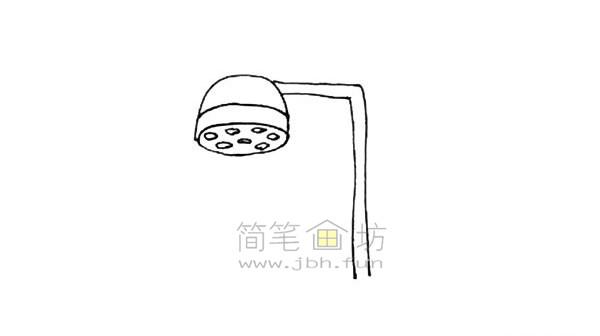 花洒简笔画绘画步骤【彩色】(4)