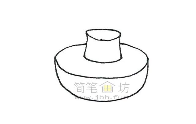 火锅简笔画绘画步骤教程【彩色】(3)