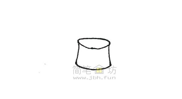 火锅简笔画绘画步骤教程【彩色】(2)