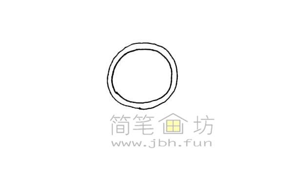 荣誉奖章简笔画绘画步骤【彩色】(1)