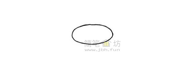 戒指简笔画绘画步骤(1)