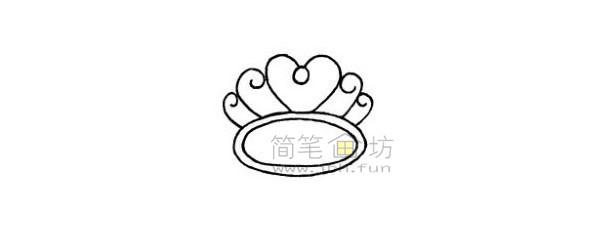 戒指简笔画绘画步骤(5)