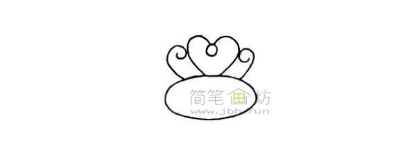 戒指简笔画绘画步骤(3)