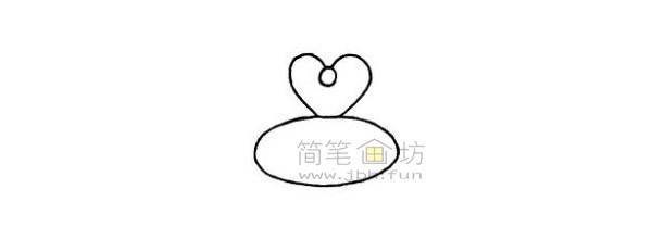 戒指简笔画绘画步骤(2)