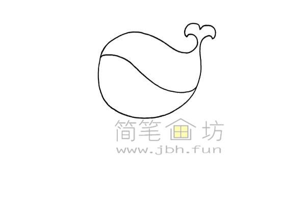 鲸鱼热气球简笔画画法(1)