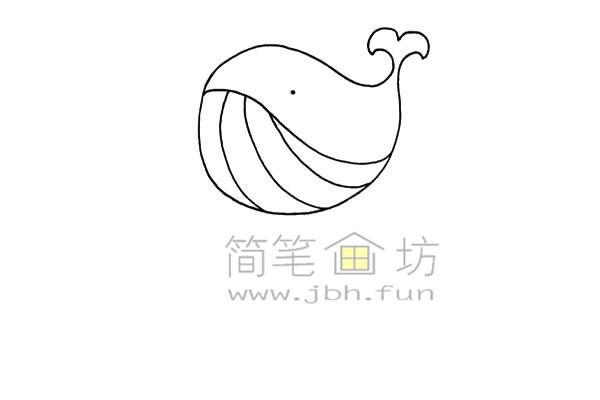 鲸鱼热气球简笔画画法(2)