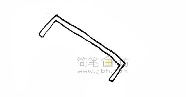 锋利的锯子简笔画绘画步骤【彩色】(2)