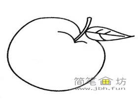 苹果的简笔画画法及图片大全