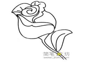 漂亮的玫瑰花简笔画画法及图片大全