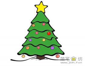 儿童学画画_简笔画圣诞树的画法教程