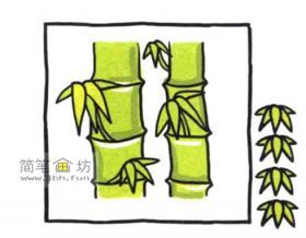 教你画彩色的竹子简笔画