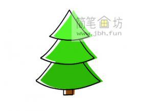 彩色松树简笔画画法步骤