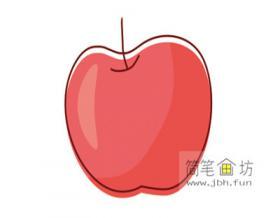 幼儿简笔画红苹果的画法步骤