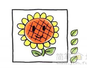 怎么画向日葵简笔画教程【彩色】